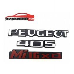 Lot monogrammes Peugeot 405...